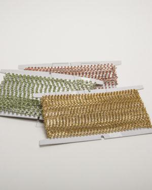 Strass en tira p/coser – BLANCO X1M.